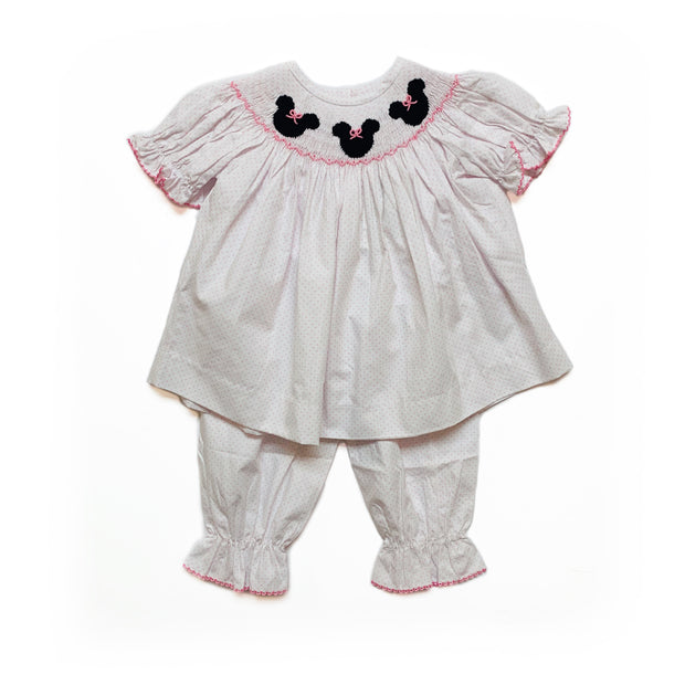 MINNIE MOUSE DOT BLOOMER SET