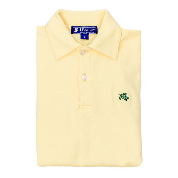 HENRY SHORT SLEEVE POLO IN YELLOW