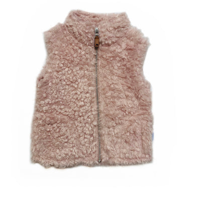 DUSTY ROSE SHERPA VEST