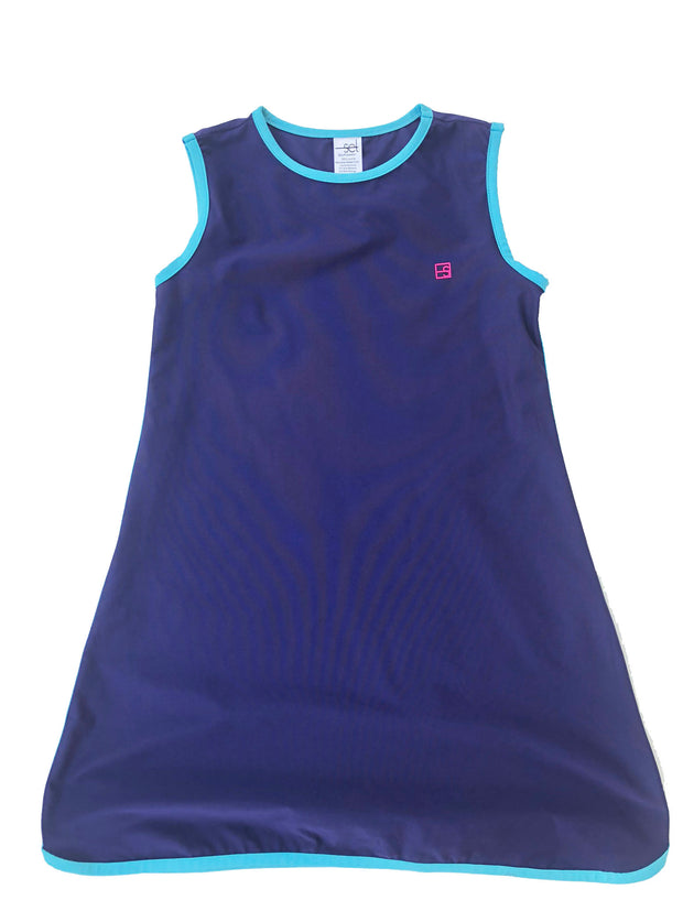 TINSLEY TENNIS DRESS IN NAVY