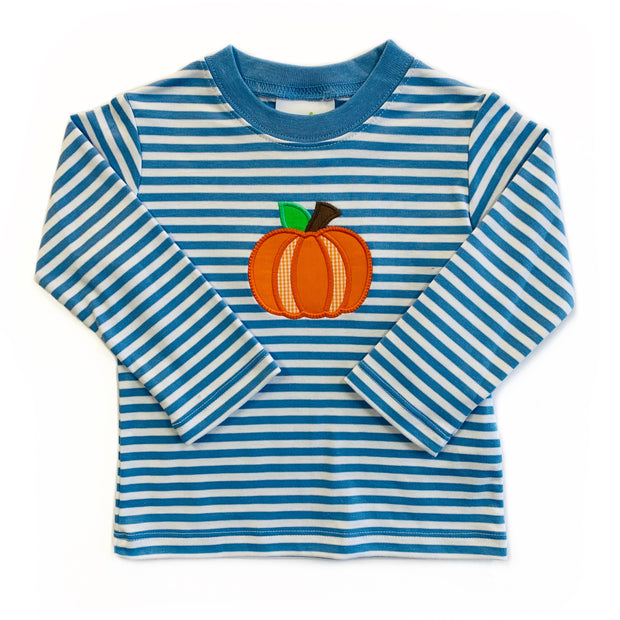 BLUE STRIPE PUMPKIN TEE