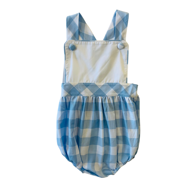 BLUE CHECK SUNSUIT
