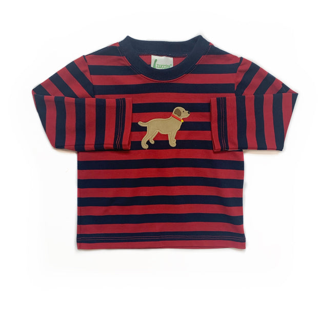 PUPPY STRIPED TEE