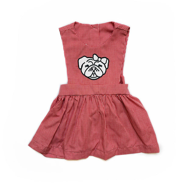 BULLDOG GINGHAM DRESS