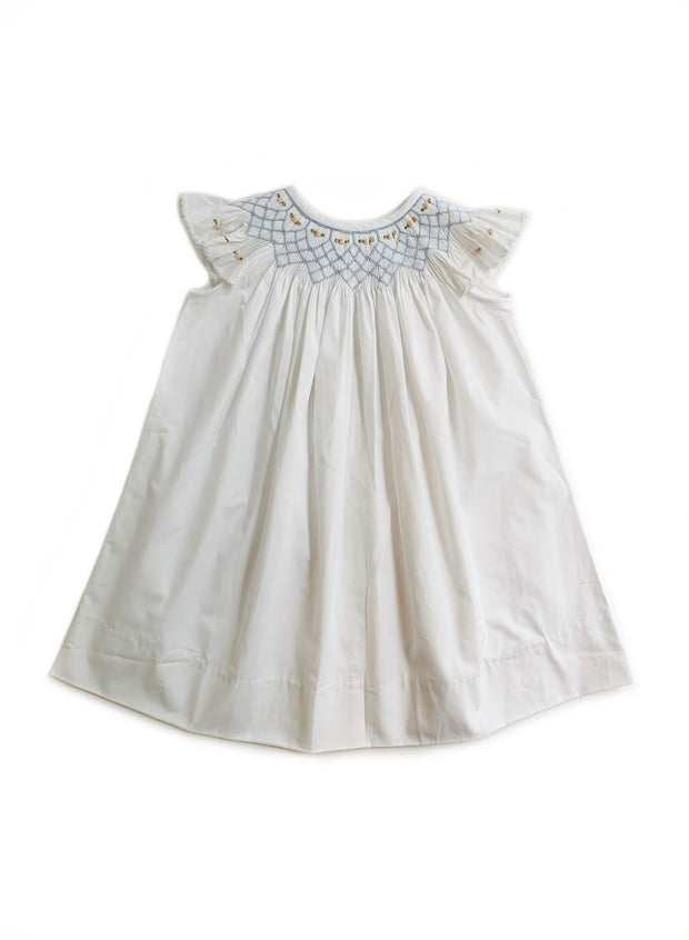 WHITE SMOCKED IN BLUE BISHOP