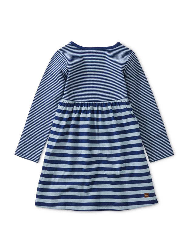 STRIPED DOUBLE KNIT DRESS