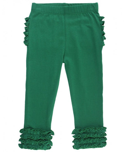 EVERYDAY RUFFLE LEGGINGS IN PINE GREEN