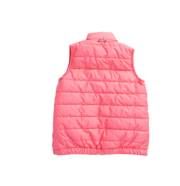 PINK PUFFER VEST WITH SHRIMP LINING