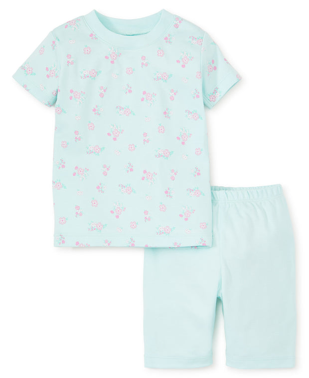 BLUE SUMMER CHEER PAJAMA SHORT SET