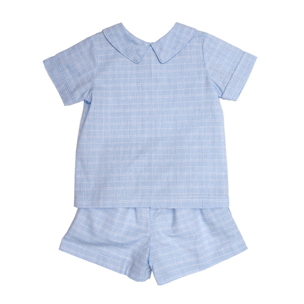 JACK BLUE CHECK SHORT SET