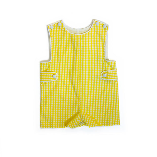 YELLOW GINGHAM JOHN JOHN