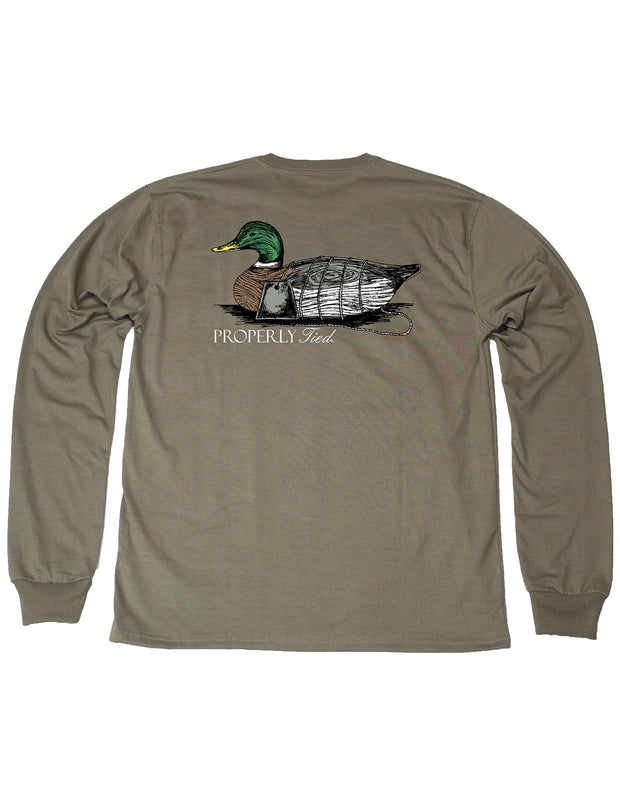 PROPERLY TIED L/S TEE - ANTIQUE DECOY