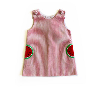 WATERMELON SEERSUCKER DRESS