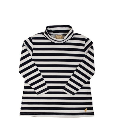 TENLEY TUNIC IN NANTUCKET NAVY STRIPE