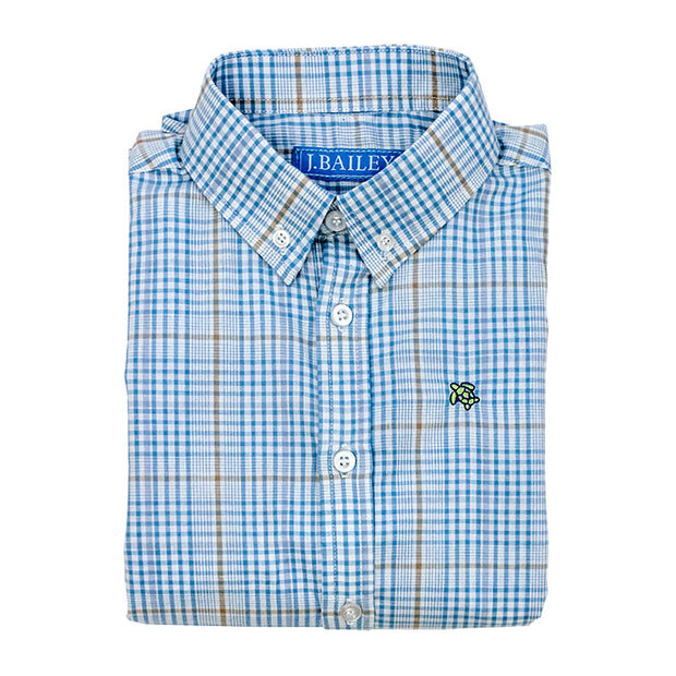 EPWORTH PLAID ROSCOE BUTTON DOWN