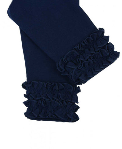 EVERYDAY RUFFLE LEGGINGS IN NAVY
