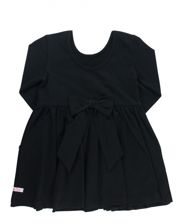 BLACK TWIRL DRESS