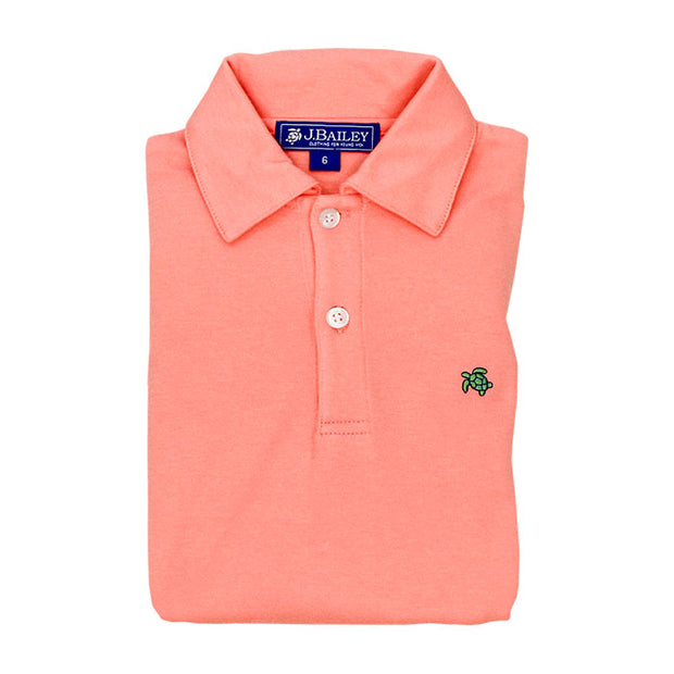HENRY SHORT SLEEVE POLO IN CORAL REEF