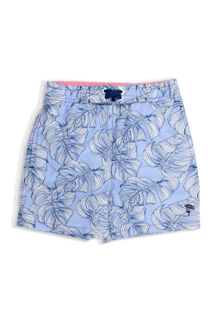 BLUE MONSTERA SWIM TRUNKS