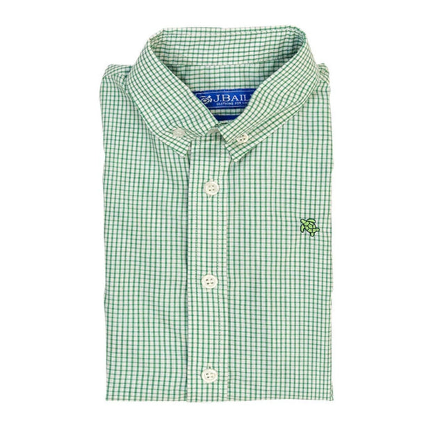 GREEN WINDOWPANE ROSCOE BUTTON DOWN