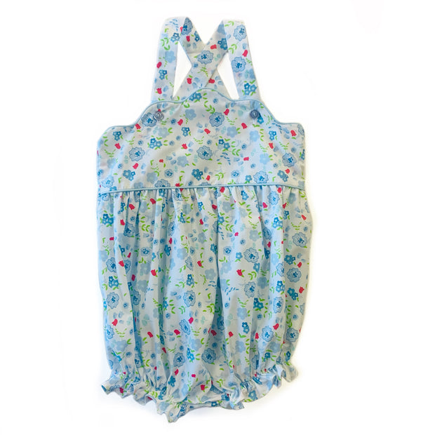 AGNES SKY BLUE FLORAL BUBBLE