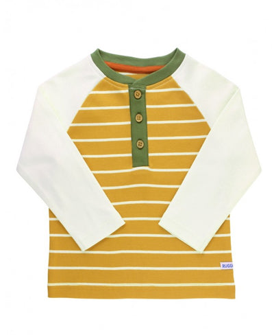 GOLDEN STRIPE HENLEY TEE