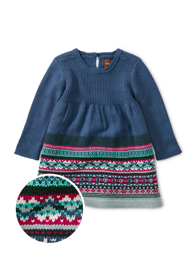 FAIRISLE SWEATER DRESS