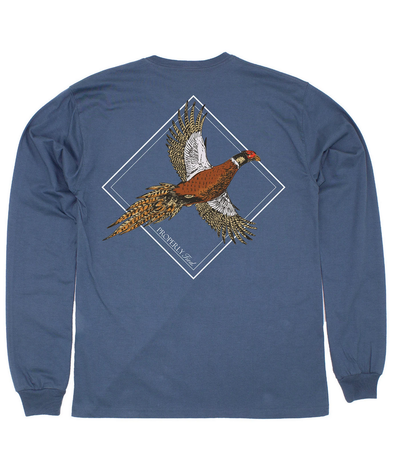 FLYING PHEASANT LONG SLEEVE POCKET TEE