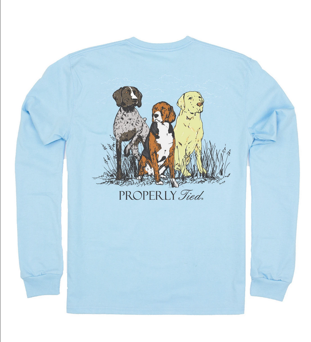TRIPLE DOG LONG SLEEVE POCKET TEE