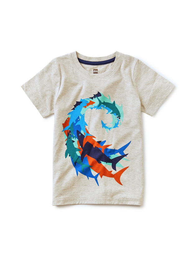 RIDE THE SHARK WAVE GRAPHIC TEE