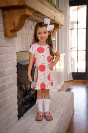 MARY CHASE APPLE DRESS