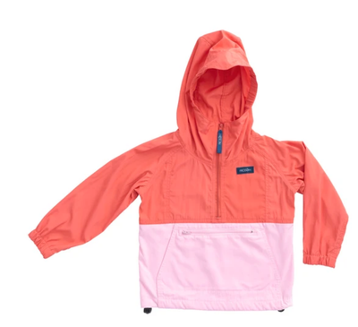 PINK COLORBLOCK ANORAK JACKET