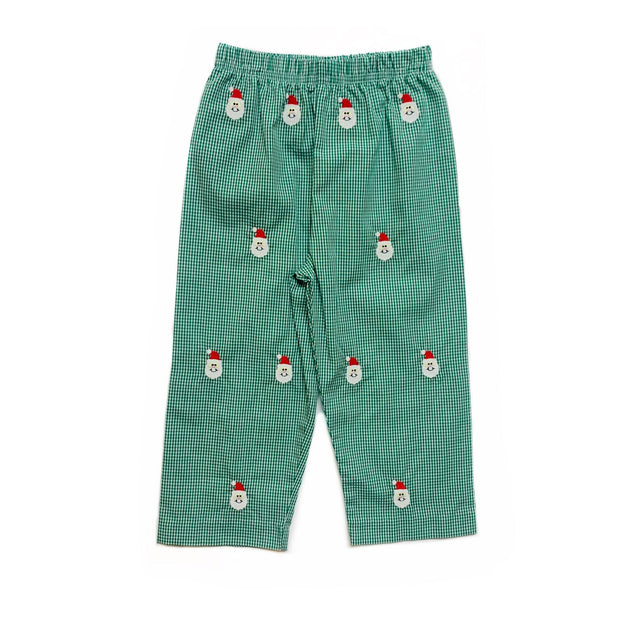 GREEN GINGHAM SANTA CLAUS PANTS