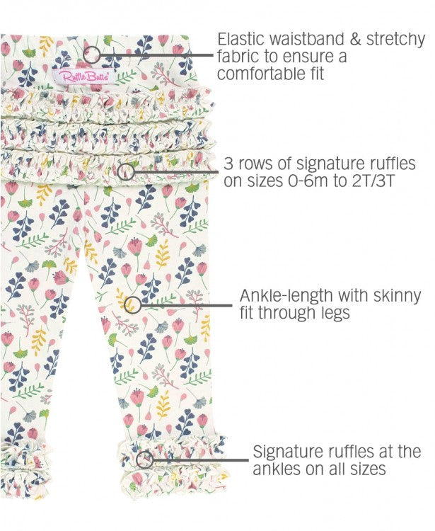 A FLORAL AFFAIR RUFFLE LEGGINGS