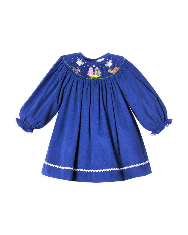 BLUE NATIVITY BISHOP DRESS