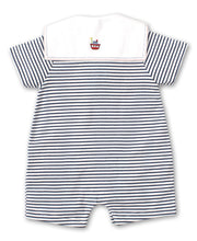 WINDJAMMERS STRIPED SHORT PLAYSUIT