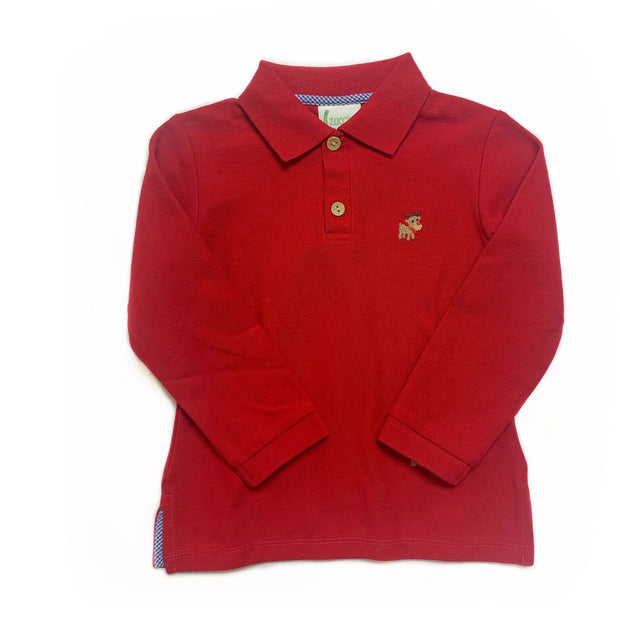 RED REINDEER POLO SHIRT