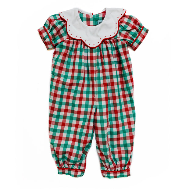 SCALLOP DOT CHRISTMAS PLAID BUBBLE