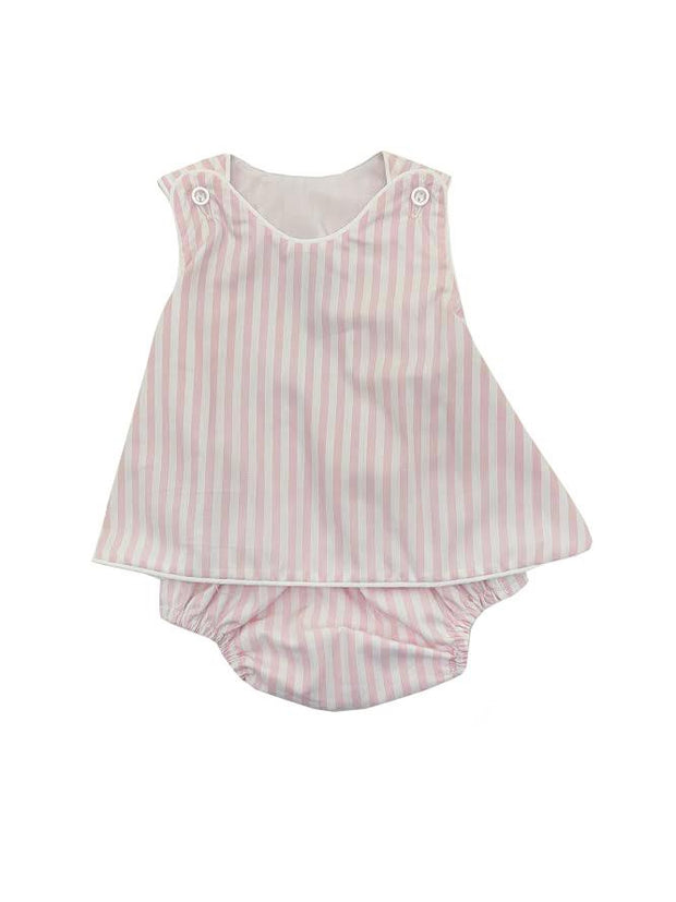 PINK STRIPE BLOOMER SET