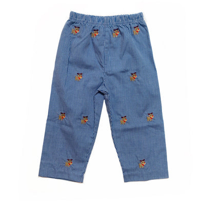 BLUE GINGHAM REINDEER PANTS