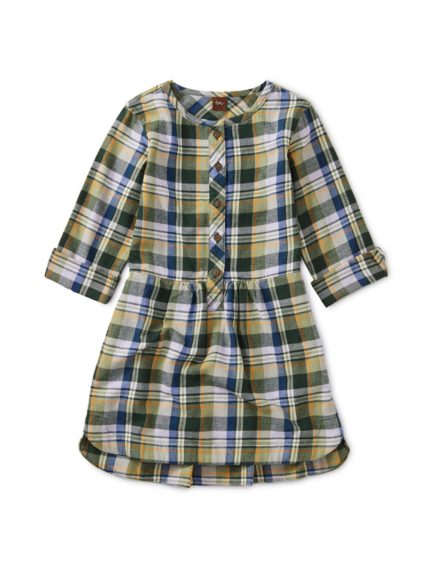 FLANNEL PLAID SHIRTDRESS