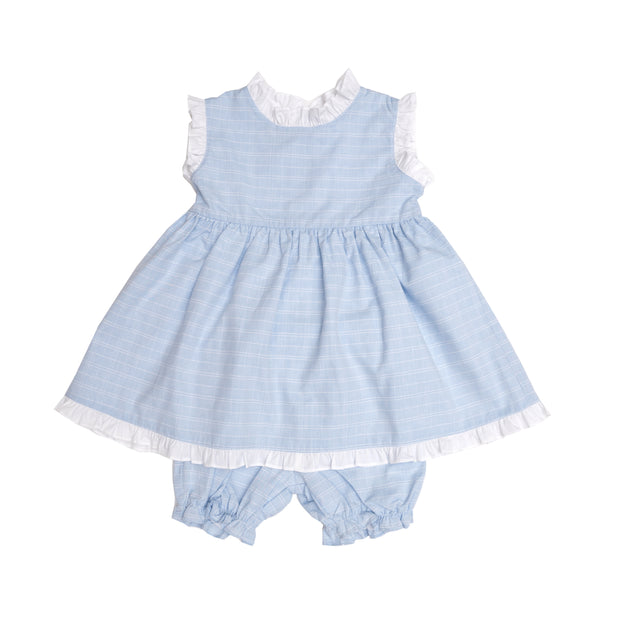 REAGAN BLUE CHECK BLOOMER SET