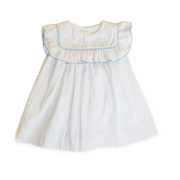 ELISE WHITE RUFFLE DRESS
