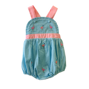 FLAMINGO EMBROIDERED SUNSUIT