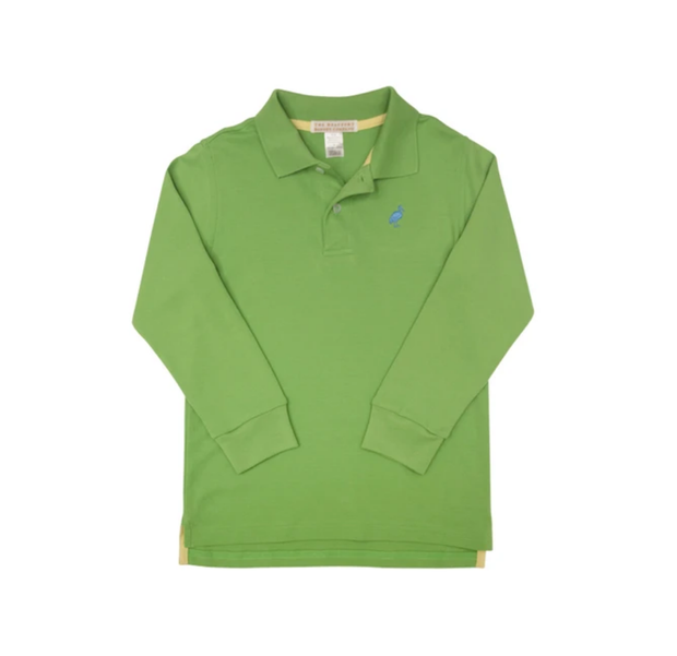 GRENADA GREEN LONG SLEEVE PRIM & PROPER POLO