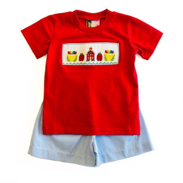 BOYS BACK TO SCHOOL SHORT SET