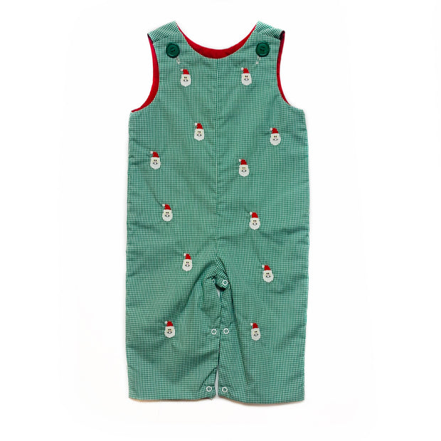 GREEN GINGHAM SANTA CLAUS LONGALL