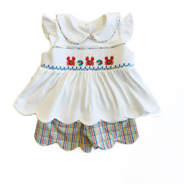 CRAB SMOCKED SHORT SET
