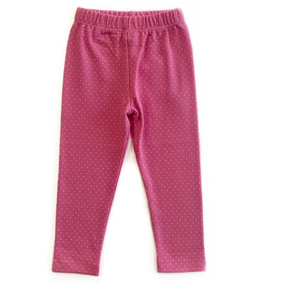HOT PINK POLKA DOT LEGGING
