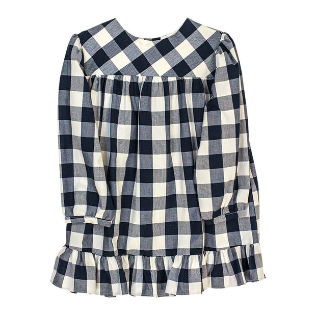 BUFFALO CHECK TOP - NAVY